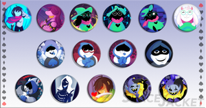 Deltarune :: Button Sets by SpaceJacket