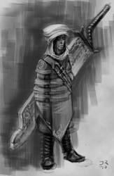 Desert Mercenary sketch by harlequin01