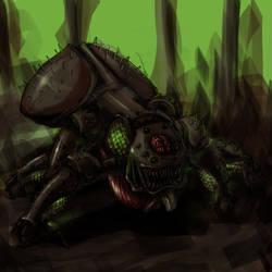 Armored six legged freak by harlequin01