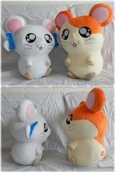Hamtaro and Bijou Plushies by Diffeomorphism