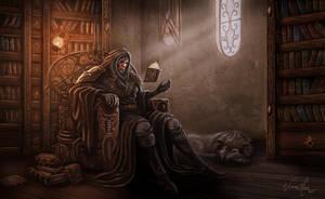 Arcane Library by victorgalo
