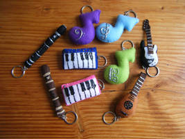 Music Plushies by Lelei-Gamyi