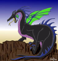 Maleficent as a Dragon by Sphinx47