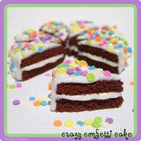 Crazy Confetti Chocolate Cake by strawberrywafers