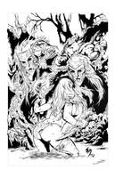 Jungle Girl inked by RobTorres