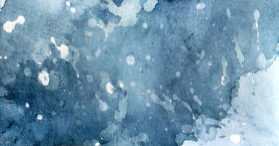 Blue Watercolour drops by Babybird-Stock