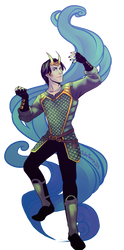 young adult Loki by EmmaSeptimus