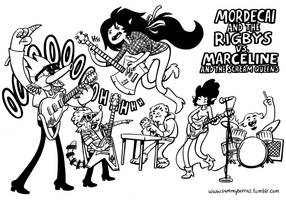 Modecai and the Rigbys VS. Marceline and the Scre- by black-rider