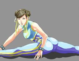 Chun-li Street Fighter Alpha by Mick-cortes