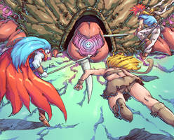 Chrono Trigger - Battle against Lavos by Mick-cortes