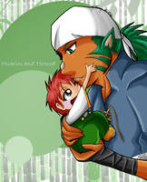 Muarim and baby Tormod by Ariall