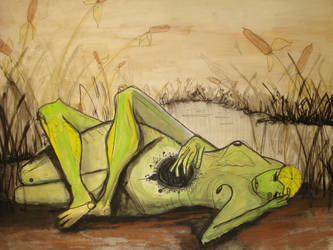 Lake Frog Love by pukicorn
