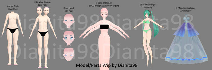 MMD My Wips #2 by dianita98