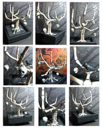 Bone-sai Skeleton Tree by Tora-sensei