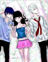 Secret of Death - OC's- Love triangle by kouanto