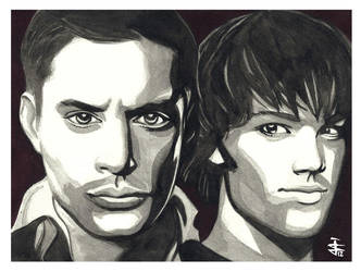 The Winchester Brothers by JustinSpyresArt