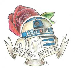 R2-D2 by JustinSpyresArt