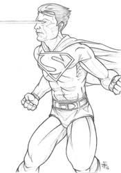 Superman sketch by JustinSpyresArt