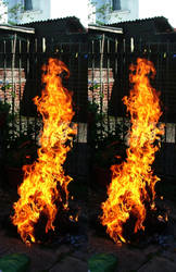 Liquify Brushed Stereoscopic Fire by aegiandyad
