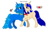 Eclair and Megan by PrincessLacusClyn