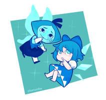 Blue Pixies by Bariumfox