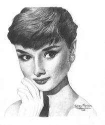 Audrey Hepburn 5 graphite by Ethan-Carl