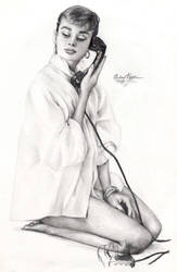 Audrey Hepburn 174 graphite by Ethan-Carl