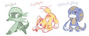 Pokemon Starters by TabbyWesa