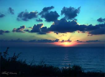 Mediterannean sunset  3 by ShlomitMessica