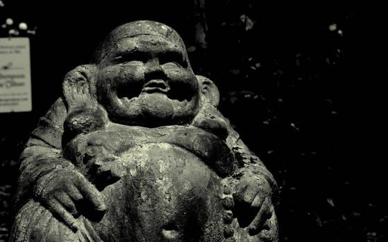 Buddha in the rose garden by revnk