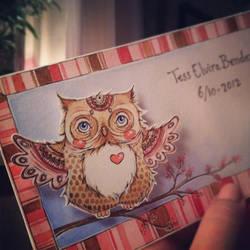 Baby Owl by Eleihna