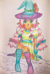 Cute little witch apprendice by Helsic