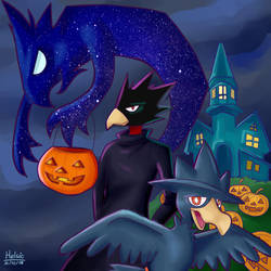 Halloween birds by Helsic