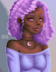 Pastel goth queen portrait by Helsic
