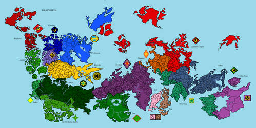Older Map of Dracnheim by Stahlorn