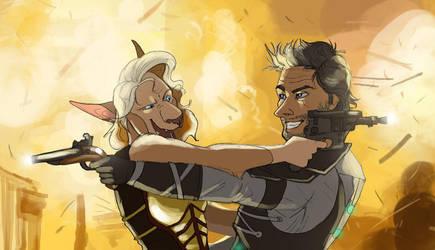 Battle Couple! by Dingoat