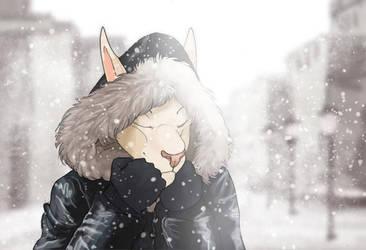 Snowfall by Dingoat