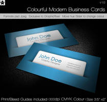 Colorful Modern Business Cards by HollowIchigoBanki
