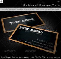 Blackboard Business Card by HollowIchigoBanki