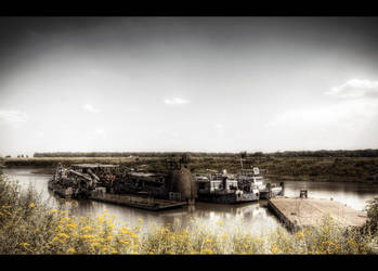 Abandoned Shipyard by Beezqp