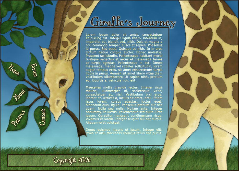 Giraffes Journey by BlueCup