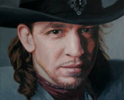 Stevie Ray Vaughan by annableker