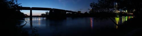 Railroad Bridge in Austin by annableker