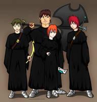 Joseph, Albert, Andressa and Cristian by Animachado