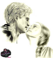Anakin and Padme by tallterror
