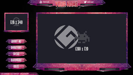 Twitch Stream overlay set by h4nabi