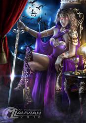 Queen Vampire Karlene Violet by MLauviah
