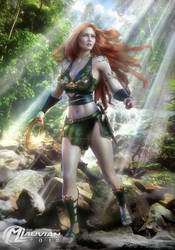 Warrior Bessie of the Jungle COMMISSION by MLauviah