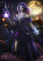 Amelie Lady of the Dead COMMISSION by MLauviah