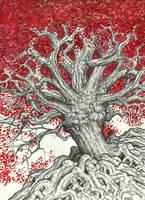 Red Tree by VinceAndrews